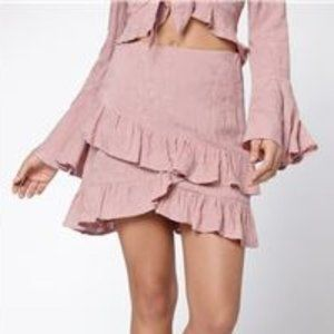 Lost + Wander Rose Ruffle Skirt Rosy Pink 4 NEW